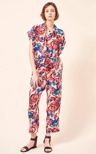 Vanda Printed Silk Jumpsuit