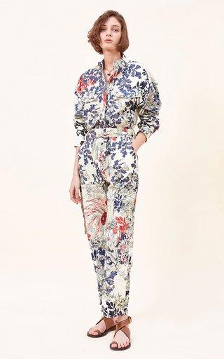 Tassa Printed Organic Cotton Twill Jumpsuit