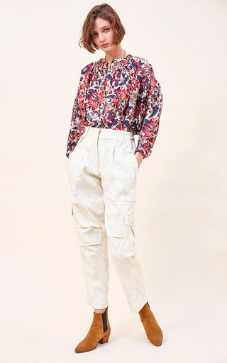 Felix Printed Organic Cotton Twill Cargo Pants