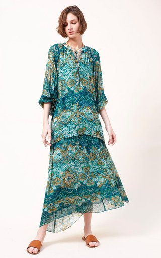 Tyna Printed Fil A Coupe Georgette Blouse