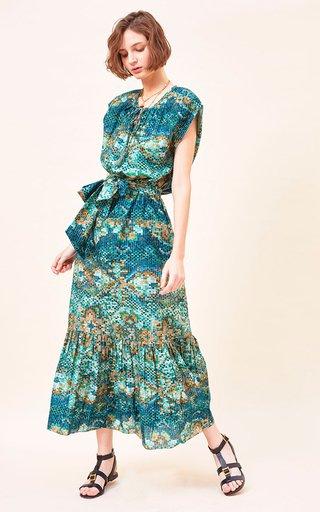 Ferka Printed Cotton-Silk Blend Voile Dress