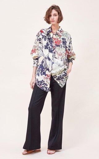 Vali Printed Silk Habutai Shirt