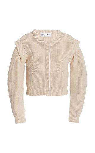 Ribbed Cotton-Wool Cardigan