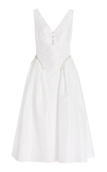 Embellished Taffeta Midi Dress