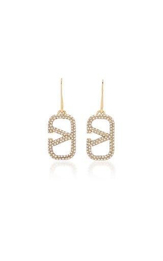 Valentino Garavani Gold-Plated Strass Earrings