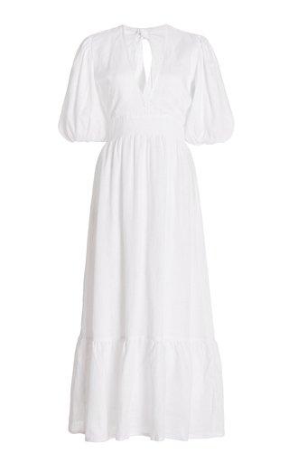 Romilla Tie-Detailed Linen Midi Dress
