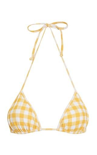 Jaqueline Gingham Print Bikini Top