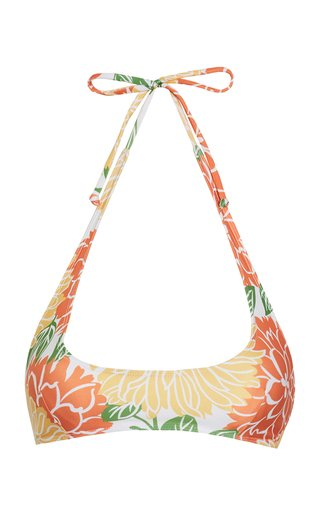 Fonda Mariposa Floral Print Bikini Top