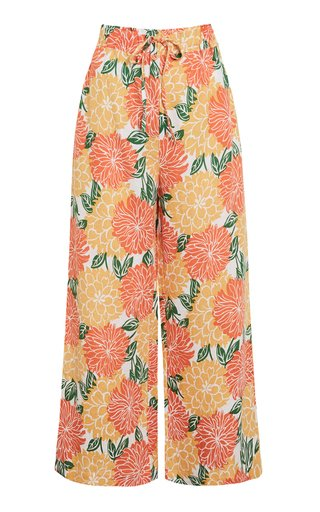 Brielle Printed Wide-Leg Pants