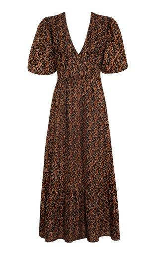 Romilla Cardette Floral Print Linen Maxi Dress