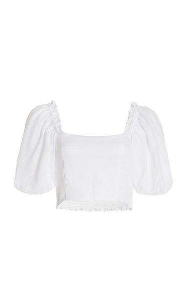 Barnette Cropped Linen Top