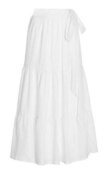 Cavaretta Tiered Linen Maxi Skirt