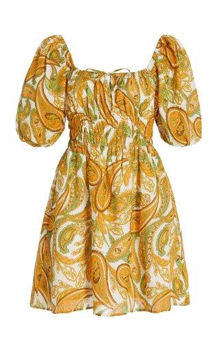 Nikoleta Paisley Linen Mini Dress