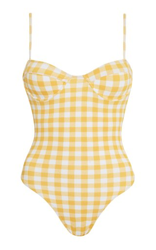 Bea Gingham Print One-Piece Swimsuit