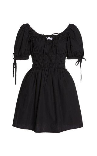 Kanika Smocked Cotton Mini Dress