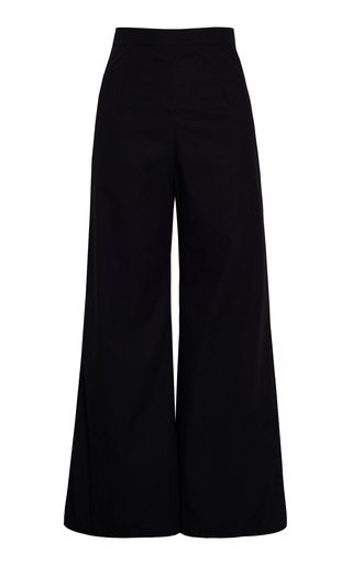 Lario Cropped Cotton Poplin Pants