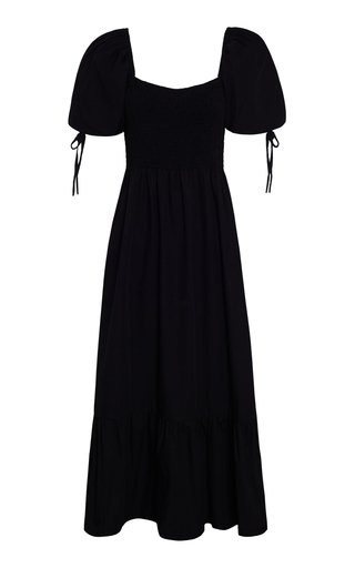 Lithana Tiered Cotton Poplin Maxi Dress