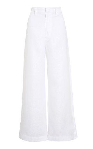 Alwin Linen Wide-Leg Pants