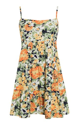Octavia Pilotta Floral Print Cotton Poplin Mini Dress