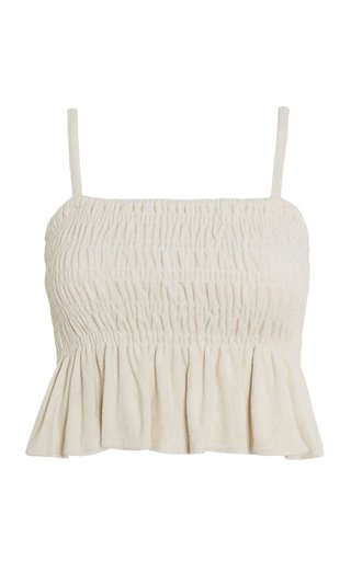 Damita Gathered Oat Cotton Tank