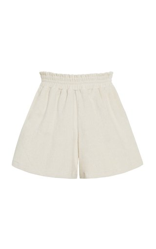 Reggie Oat Cotton Mini Shorts