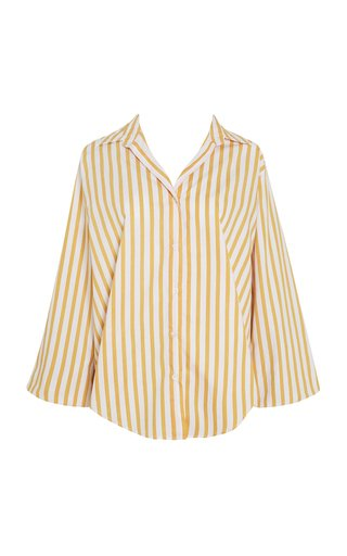 Rylen Martie Striped Cotton Poplin Button-Up Shirt
