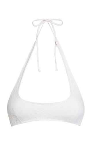 Fonda Textured Solid Bikini Top
