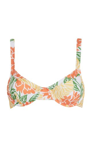 Maeve Mariposa Floral Print Bikini Top