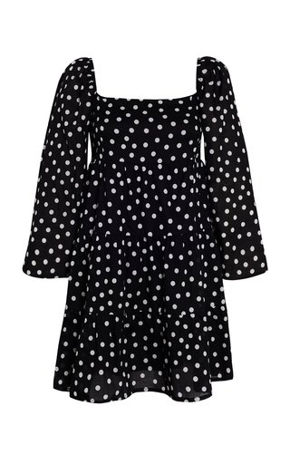 Morissa Neoma Dot Print Cotton Poplin Mini Dress