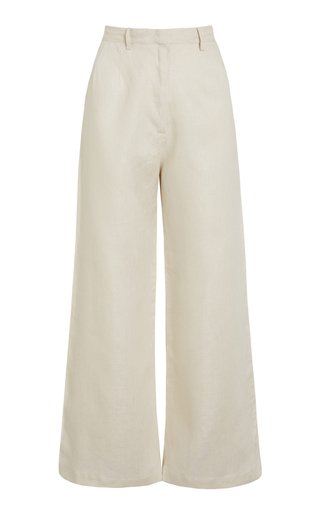 Musa Cropped Linen Pants