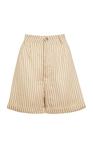 Otto Brighton Striped Linen Mini Shorts