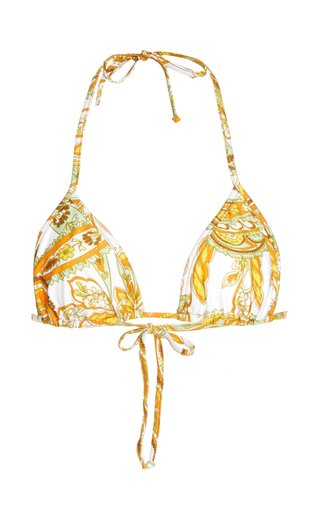Jaqueline Paisley-Print Bikini Top