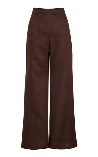 Sibyl Cropped Linen Pants