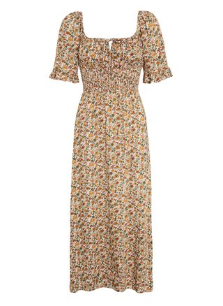 Elpaso Seymour Floral Print Midi Dress