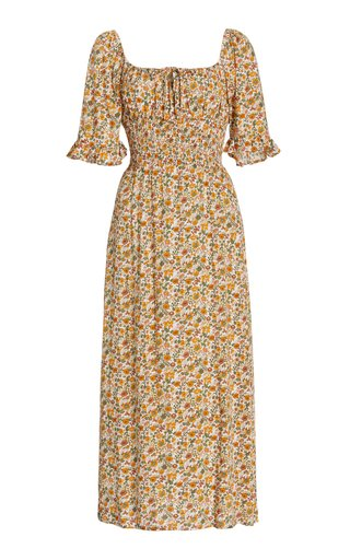 Elpaso Floral Crepe Midi Dress