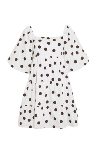 Eryn Bessie Dot Print Cotton Poplin Mini Dress