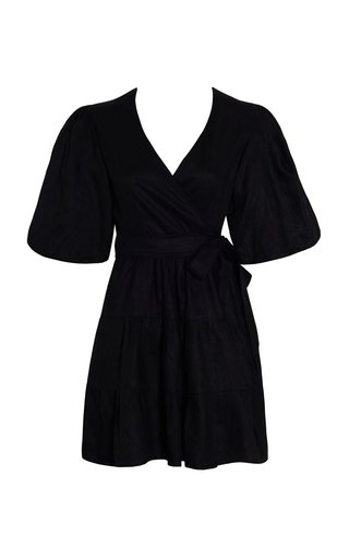 Rooney Linen Wrap Mini Dress