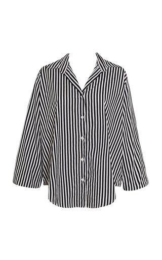 Rylen Brighton Striped Cotton Poplin Button-Up Shirt