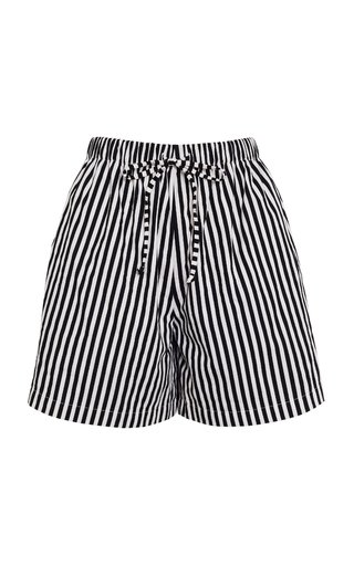 Sereno Brighton Striped Cotton Poplin Shorts