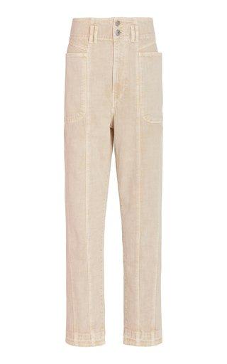 Tess Cotton Straight-Leg Trousers