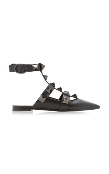 Valentino Garavani Rockstud Leather Flats