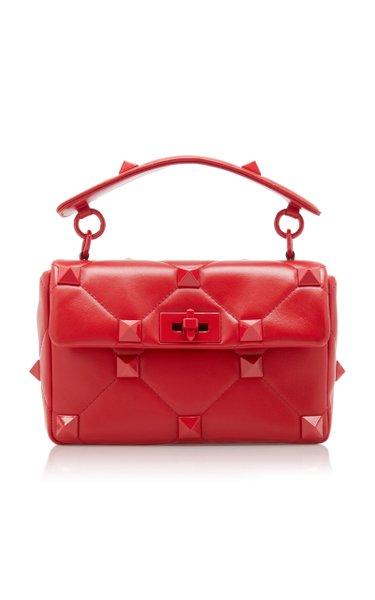 Valentino Garavani Small Roman Stud Leather Bag