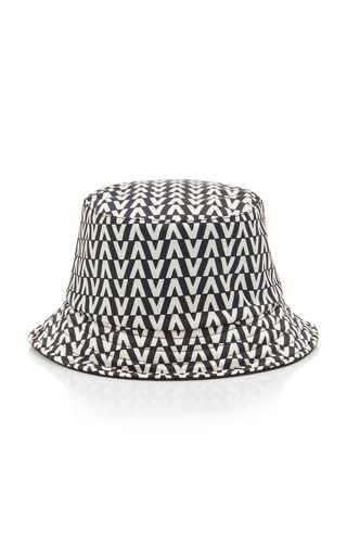 Reversible Printed Cotton-Twill Bucket Hat