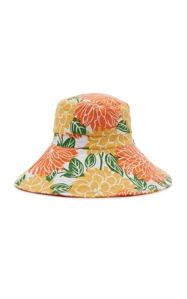 Frederikke Floral Linen Sun Hat