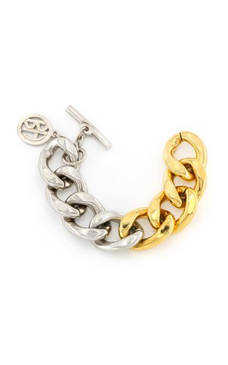 Two-Tone Chunky Metal Chain Bracelet