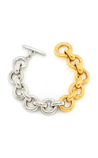 Two-Tone Metal Chain Bracelet