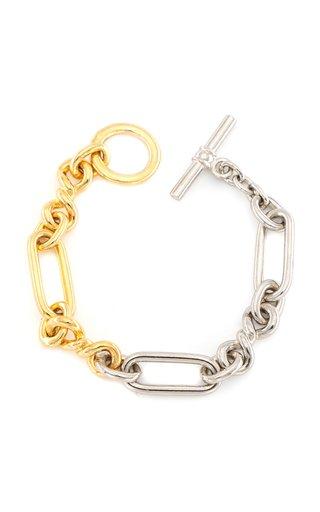 Two-Tone Metal Chain Bracelet
