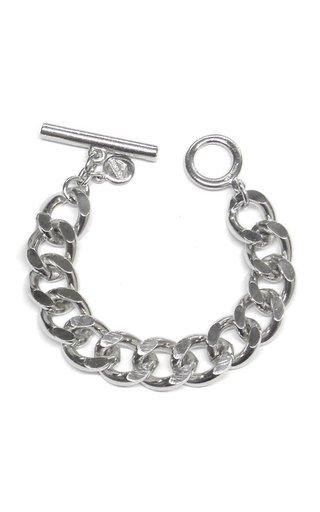 Silver-Tone Metal Chain Bracelet