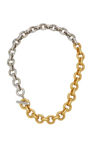 Two-Tone Gold-Plated Chain Necklace