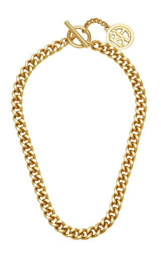 Gold-Tone Curb Chain Necklace